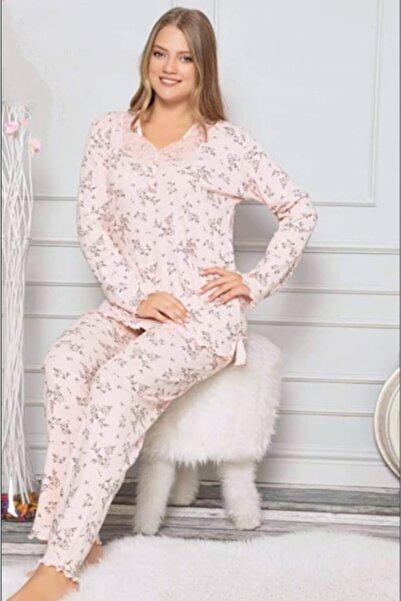 Manolya Kadın Pembe Pijama Takımı 7344