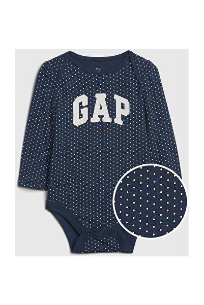 GAP Baby Kız Bebek Logo Uzun Kollu Body