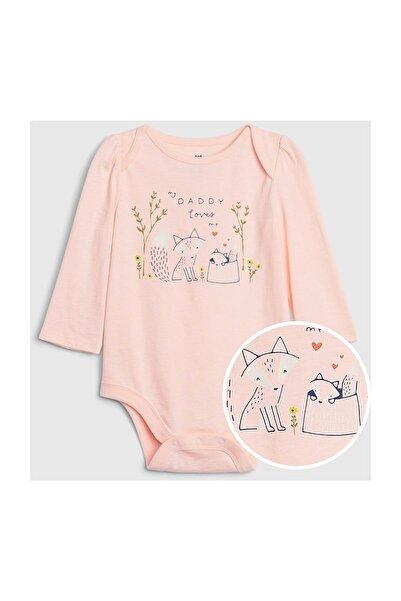 GAP Baby Kız Bebek Uzun Kollu Body