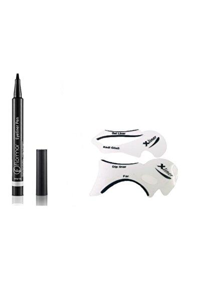 Flormar Eyeliner Pen & Eyeliner Çekme Aparatı