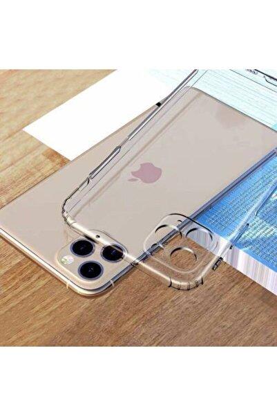 SEVEN7 Iphone 11 3d Kemera Korumalı Tıpalı Şeffaf Slikon Kılıf