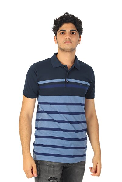 Abbate Erkek Lacivert Polo Yaka T-Shirt