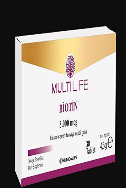Huncalife Multilife Biotin Içeren Takviye Edici Gıda 30 Tablet