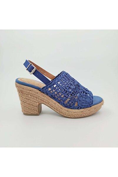 Guja 241 Mavi Kadın Topuklu Ayakkabı