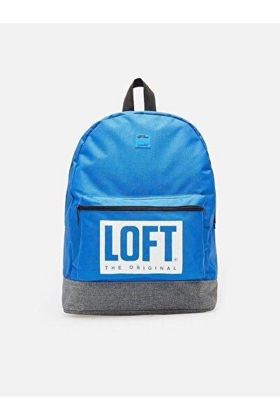 Loft Unisex Mavi Gri Sırt Çantası