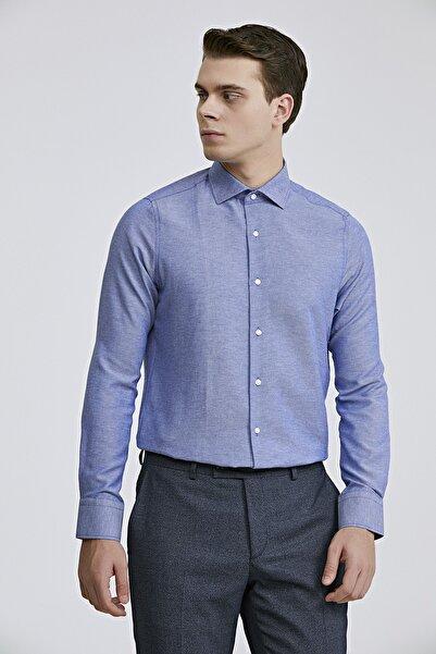 D'S Damat Slim Fit Mavi Renk Erkek Gömlek 2HF02ORT3185_702