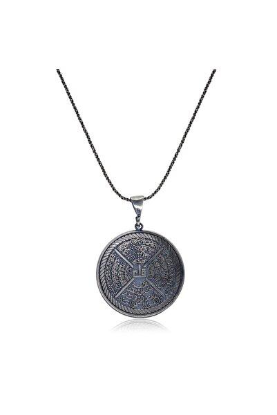 Ventino Silver İhlas, Felak, Nas, Kafirun Sureli Gümüş Kolye VEK-3061