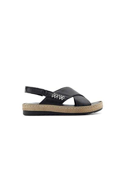 PUNTO 383002 Kadın Sandalet-siyah