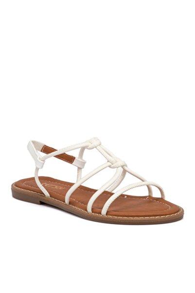 Tergan Kadın Beyaz Vegan Sandalet 10162d93