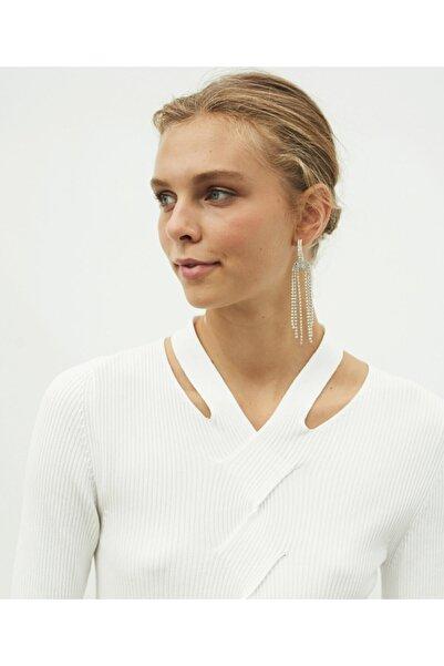 İpekyol Kadın Ekru Cut Out Detaylı Triko