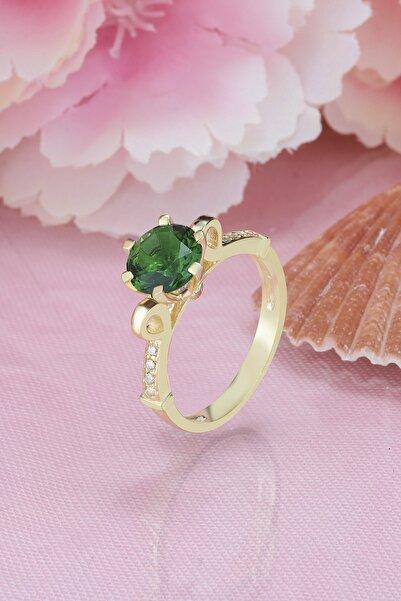 Else Silver Kadın Yeşil Taşlı 925 Ayar Gümüş Yüzük
