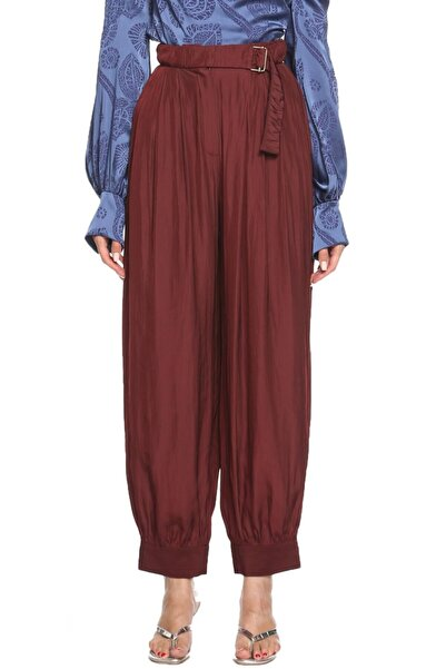 Lanvin Kadın Bordo Şalvar Pantolon