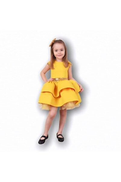 Mia Festa Ceremony Kız Çocuk Sarı Kabarık Elbise
