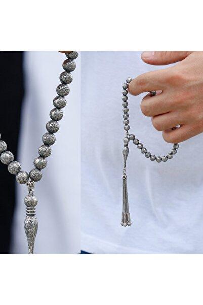 TESBİHCİBABA Kalemkar Işçilikli 925 Ayar Gümüş Tesbih Tb8379