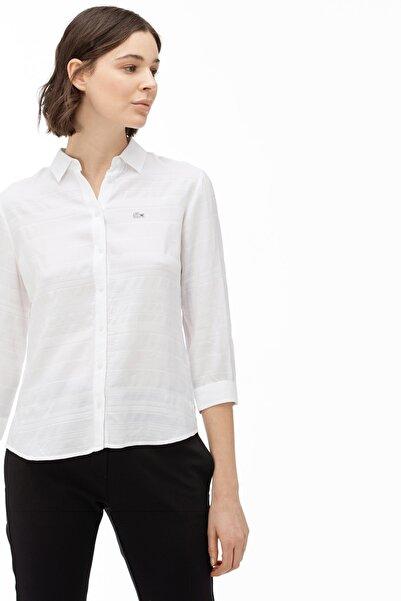 Lacoste Kadın Beyaz Gömlek CF0026