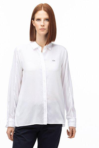 Lacoste Kadın Beyaz Gömlek CF0005