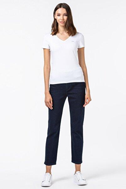 Lacoste Kadın Slim Fit Denim Lacivert Pantolon HF4502