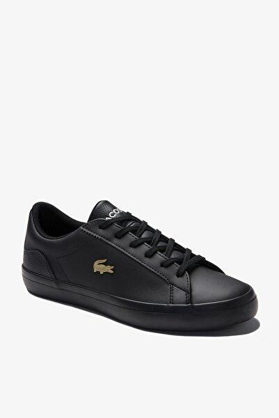 Lacoste Lerond 0120 2 Cfa Kadın Deri Siyah Casual Ayakkabı 740CFA0003