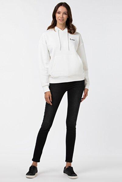 Lacoste Kadın Slim Fit Denim Gri Pantolon HF2104