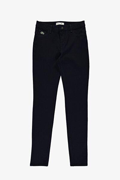 Lacoste Kadın Slim Fit Denim Lacivert Pantolon HF2104
