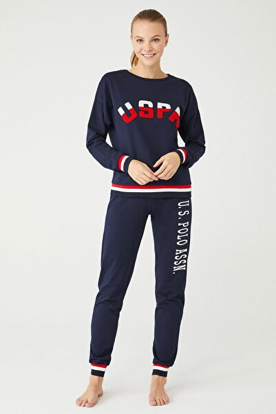 U.S. Polo Assn. Kadın Lacivert Pamuklu İkili Takım