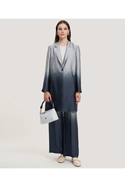 Aker Kadın Lacivert Degrade Ceket