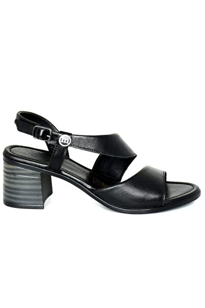 Mammamia Kadın Siyah Faber Deri Sandalet
