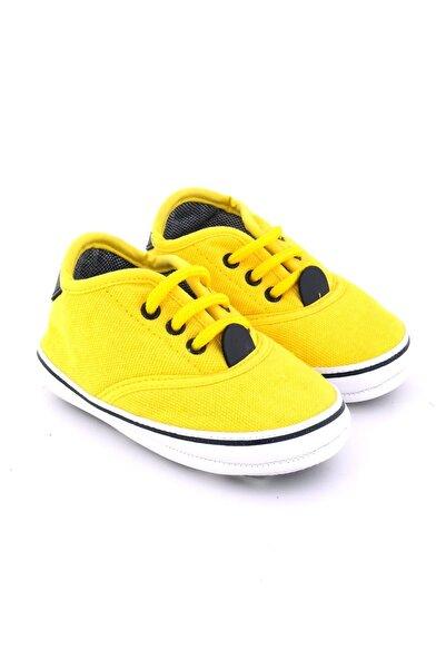 Funny Baby Bebek Sarı Bağcıklı Sneaker Ilk Adım Ayakkabısı