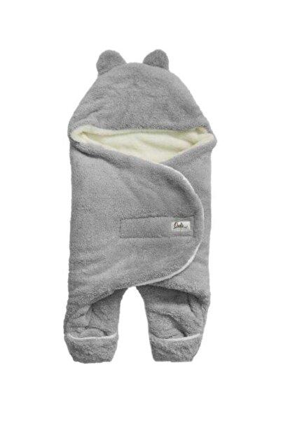 Owli Bebek Kışlık Dış Kundak Battaniye 0-6 Ay-gri