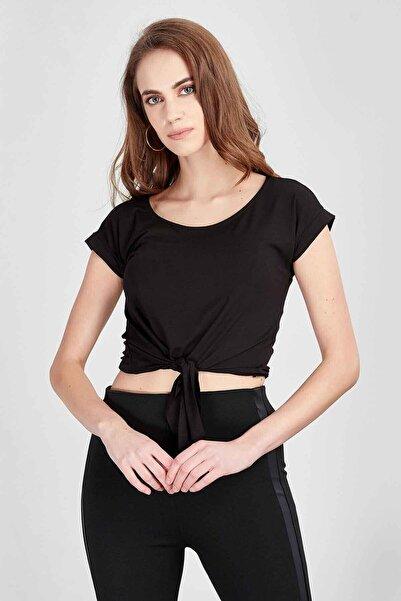 Manche Kadın Siyah T-shirt  Mk20s264574
