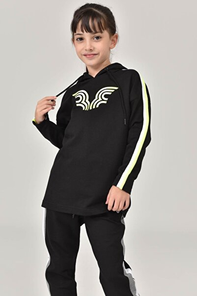 bilcee Siyah Unisex Çocuk Sweatshirt FW-1513