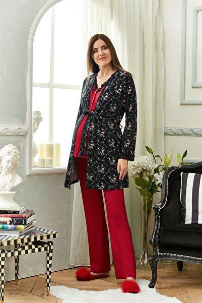 Cossy By Aqua Kadın Kırmızı 3lü Pijama Takımı 20aqu0020401