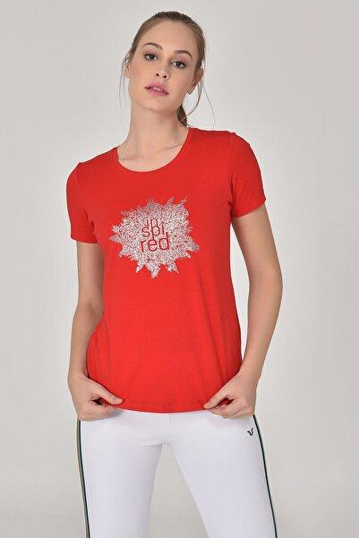 bilcee Kadın Kırmızı Büyük Beden T-Shirt GS-8131