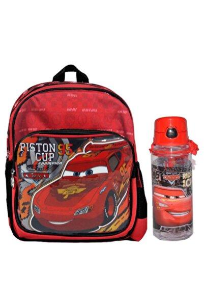 CARS Hakan Çanta Disney Lisanslı Arabalar Anaokulu Çantası Ve Suluk Matara 500ml