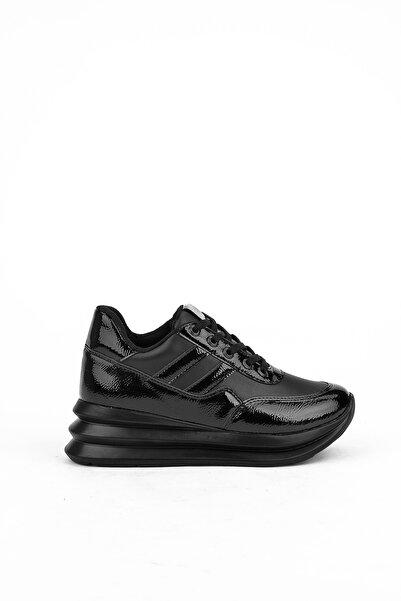 Ziya Kadın Siyah Deri Ayakkabı 103415 Z333001