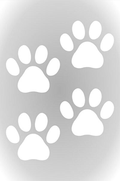 Quart Aksesuar Pati Sticker 4 Adet, Araba, Oto Sticker Beyaz 4 Adet 7 X 7 Cm