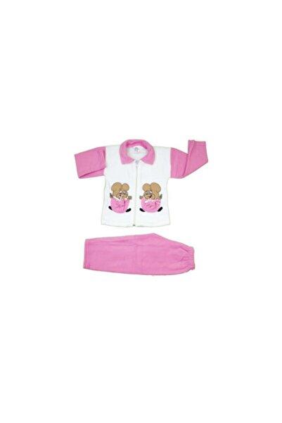 Mickey Mouse Kız Bebek Pembe Pijama Takımı 2 Parça