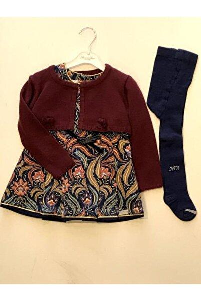 Monna Rosa Kız Çocuk Bordo Elbise