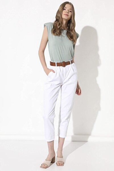 Arma Life Kadın Beyaz Kemerli Pantolon