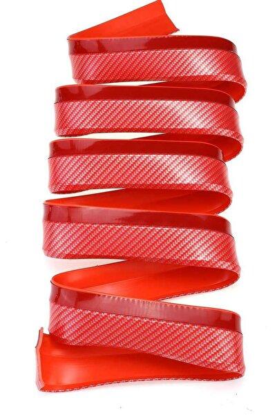 Buffer Kırmızı Renkli Araba Oto Ön Tampon Koruyucu Kauçuk Pratik Tampon Şerit Bant Döşeme Kiti 2,5 m