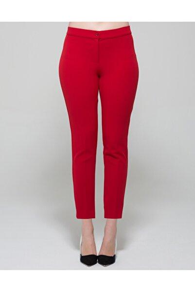 GEBE Kadın Kırmızı Büyük Beden Pantolon