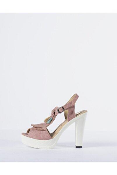 Vision Kadın Pembe Topuklu Ayakkabı