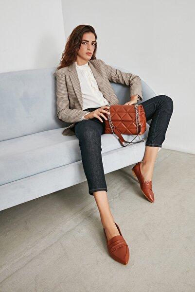 Sole Sisters Kadın Kahverengi Taba Babet Düz Ayakkabı