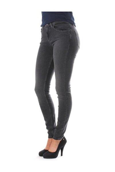 Calvin Klein Kadın Gri Mid Rise Skinny Pantolon