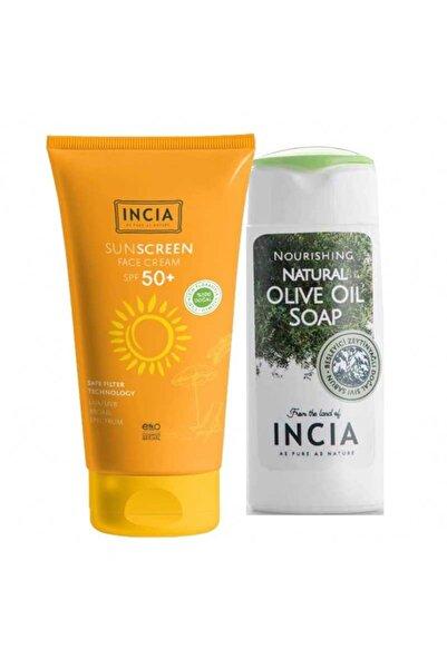 Incia Incıa Yüz Için %100 Doğal Güneş Kremi 50 Spf 50 Ml | El Ve Vücut Sabunu 50ml Hediye!