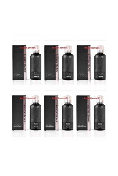 Morfose Manly Sport Erkek Parfümü 125ml Black Yeni - 6 Lı Eko Paket