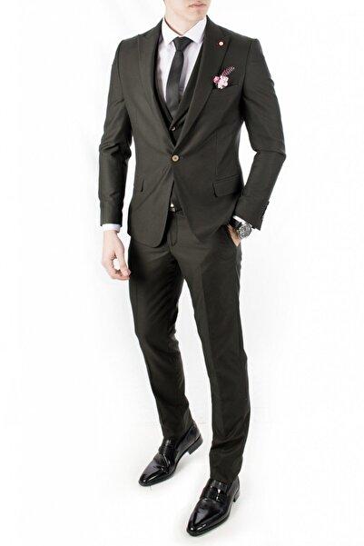 DeepSEA Erkek Koyu Haki 3'lü Takım Elbise 1810712