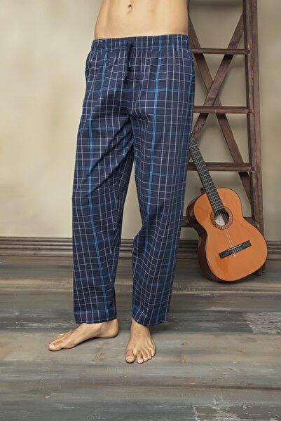 KLY Erkek Lacivert Tek Alt Likralı Çok Rahat Dokuma Pijama Altı