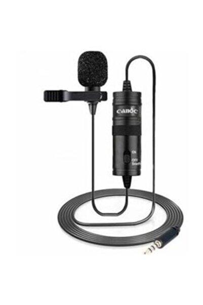 Canderel Acrtech Bilişim Profesyonel Yaka Mikrofonu 6 Metre Kablo- Bilgisayar Cep Telefonu Tablet Youtuber