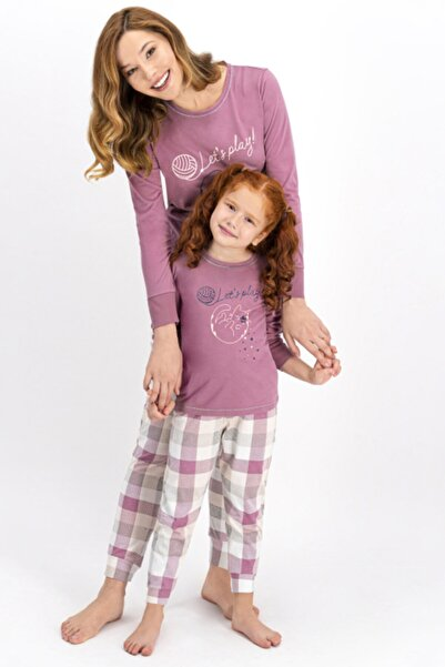 Arnetta Anne Kız Kombin Mürdüm Pijama Takım 900